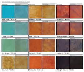 concrete acid stain color chart behr semi transparent concrete stain pictures studio