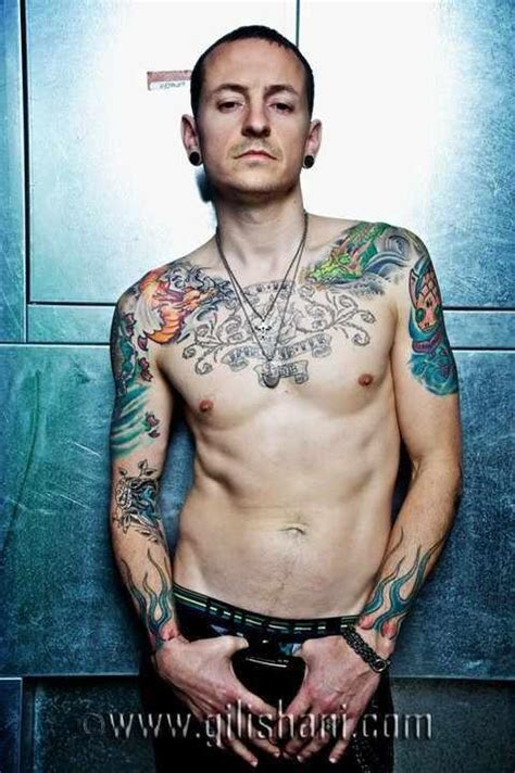 chester bennington tattoos chester bennington images wier magazin germany 2010
