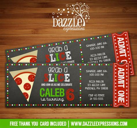 printable pizza tickets 1000 images about bday ideas on pinterest movie ticket