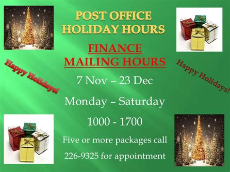 Post Office Schedule by Misawa Post Office Schedule