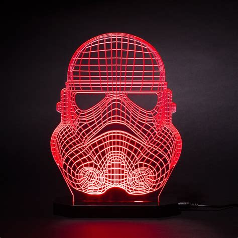 star wars led light refined star wars stormtrooper face mask led desk light