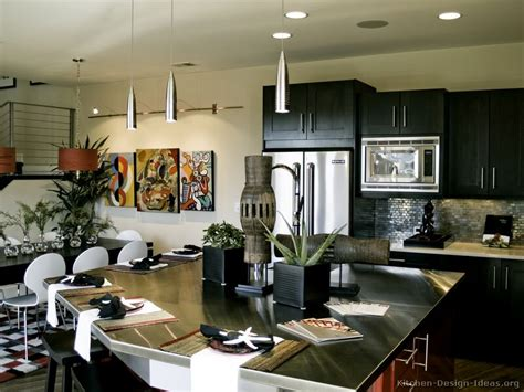 Black Kitchens Designs Pictures Of Kitchens Modern Black Kitchen Cabinets