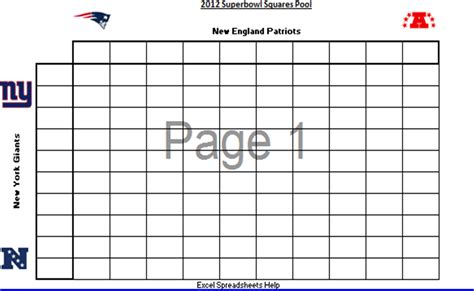 bowl spreadsheet template excel spreadsheets help printable 2012 superbowl squares