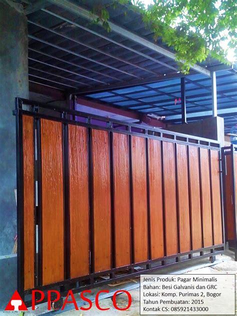 Foto Dan Ranjang Besi jual pagar minimalis dengan motif kayu jasa konstruksi
