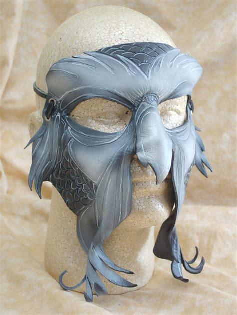Masker Wajah Black Mask great owl leather owl mask secret of nimh inspired
