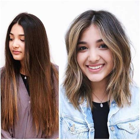 haircut ideas before and after before and after long to short haircuts haircuts models