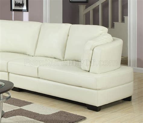 cream sectional sofa 503103 landen sectional sofa in cream bonded leather by