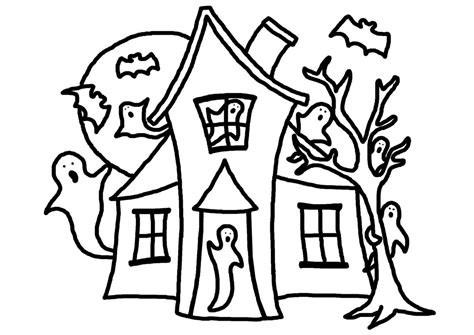 haunted house coloring pages free haunted house coloring page clipart panda free clipart