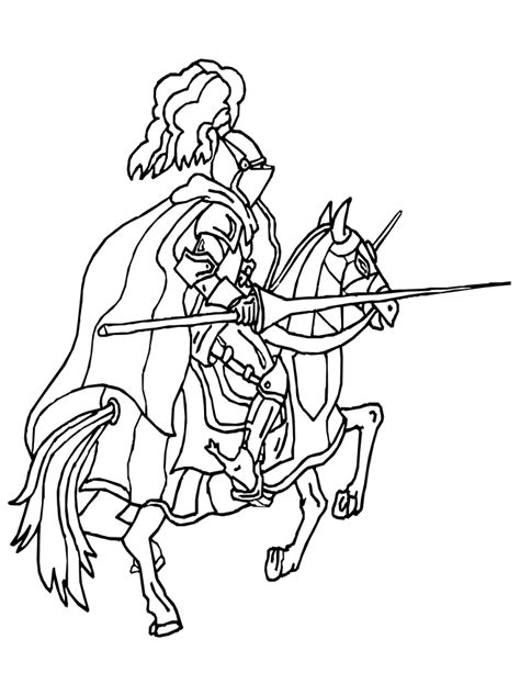 coloring pages knights jousting knight and horse coloring page knight jousting on horse