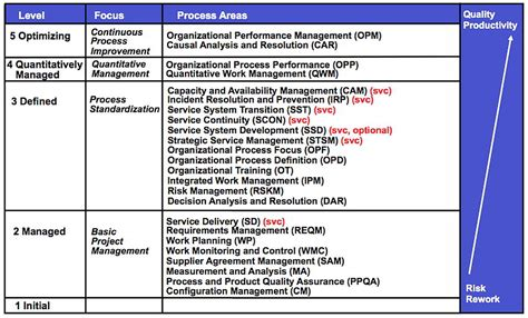 Cmmi For Services Cmmi Svc Plays In Business Cmmi Project Plan Template