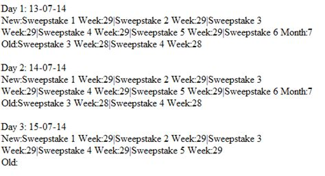 Sweepstakes Calculator - php sweepstakes calculate the days of periodical events php classes