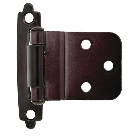 3 8 inset cabinet hinges liberty 3 8 in oil rubbed bronze self closing inset hinge