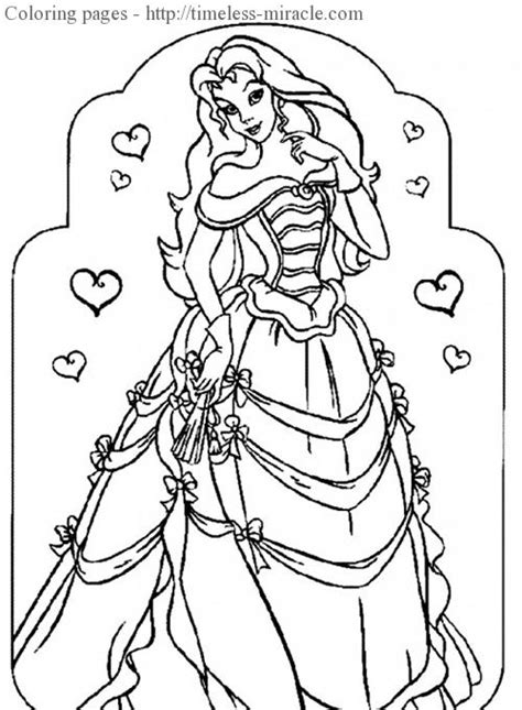 Pretty Princess Coloring Pages Belle Coloring Pages Pretty Princess Coloring Pages Printable