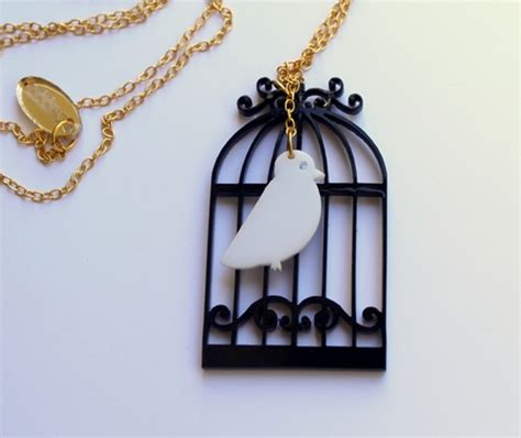 how to make acrylic jewelry bugga birdcage necklace plexiglass jewelry lasercut