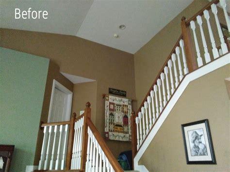 Painting Ideas For Master Bedroom the secret to painting a 2 story wall