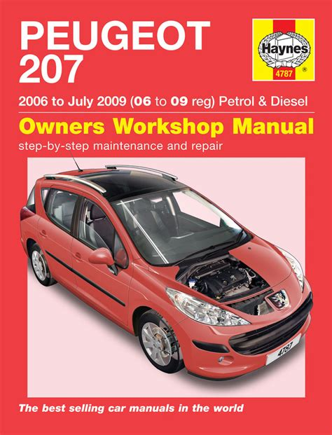 car engine repair manual 1997 volkswagen cabriolet electronic throttle control peugeot 207 petrol diesel 06 july 09 06 to 09 haynes publishing
