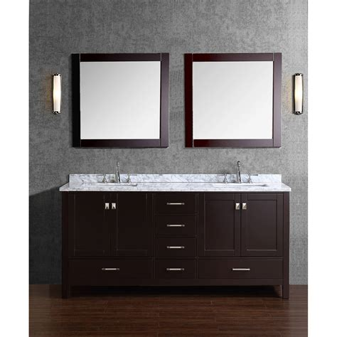 Bathroom Vanity Wood Buy Vincent 72 Inch Solid Wood Bathroom Vanity In Espresso Hm 13001 72 Wmsq Esp