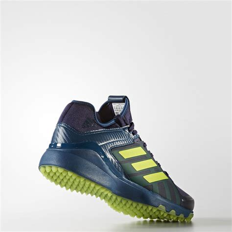 adidas hockey lux blue yellow shoes ss