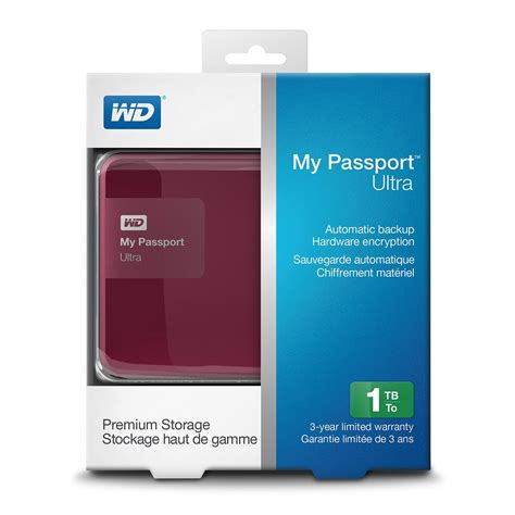 Harddisk External Wd Ultra My Passport 1tb New wd my passport ultra 1tb classic portable drive berry iitsupport