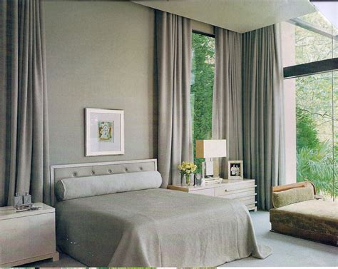 Fashionable Grey Fabric Curtains Use Floor To Ceiling Ceiling To Floor Drapes