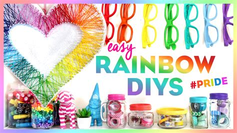 4 easy rainbow diys pride bring color to your room this summer youtube