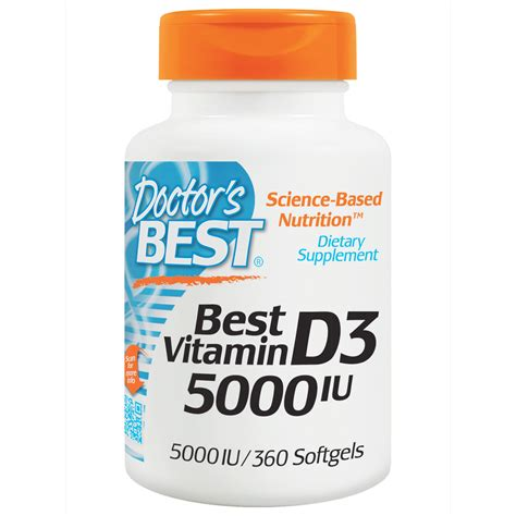 best doctor doctor s best best vitamin d3 5000 iu 360 softgels