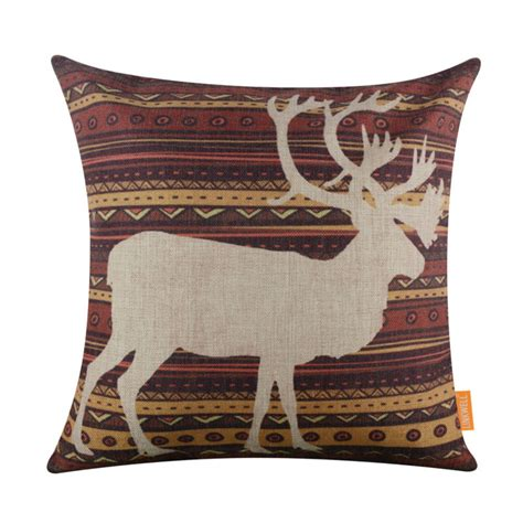 sewing pattern for 18 x 18 pillow linkwell 18x18 quot retro ethnic african pattern deer elk