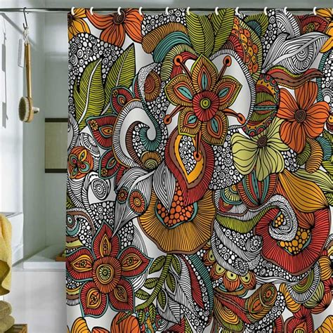 valentina ramos shower curtain deny designs valentina ramos ava shower curtain eclectic