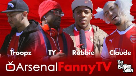 arsenal on tv arsenal fan tv parody comedy ty troopz claude youtube