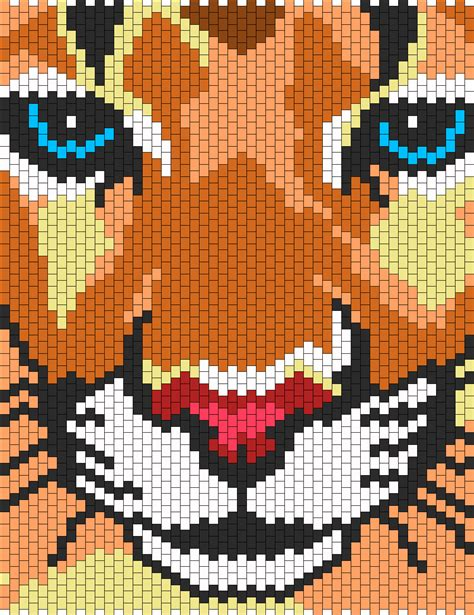 loom beading patterns free patterns animals cross stitch mountain lion bead pattern bonbon 2 pinterest bead
