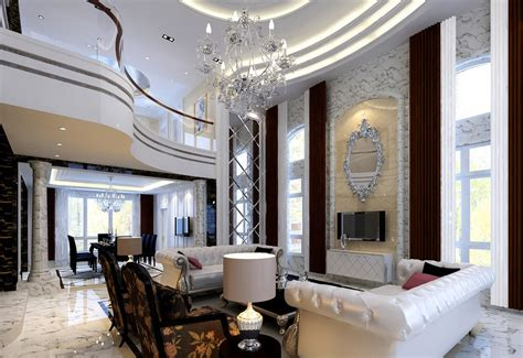 neoclassical style neoclassical style villa living and dining room model