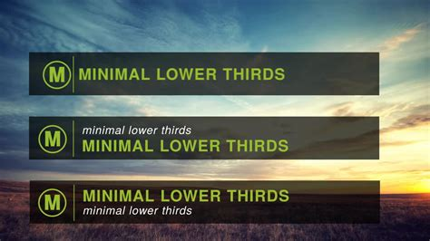 Minimal Lower Thirds After Effects Templates Motion Array Propresenter Lower Third Templates