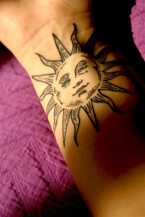 tattoo on right wrist 70 latest sun tattoos ideas with meanings