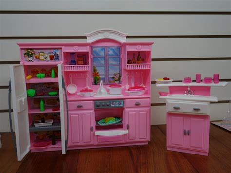 barbie doll house amazon amazon com barbie size dollhouse furniture my fancy life kitchen play set toys