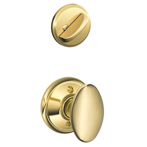 Schlage Interior Door Knobs shop schlage siena 1 5 8 in to 1 3 4 in bright brass single cylinder knob entry door interior