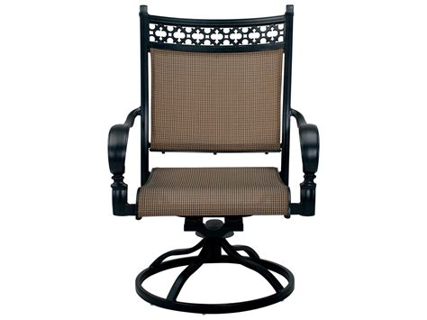 Darlee Outdoor Living Standard Mountain View Cast Aluminum Aluminum Sling Patio Chairs