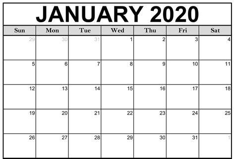 blank january  calendar template calendar
