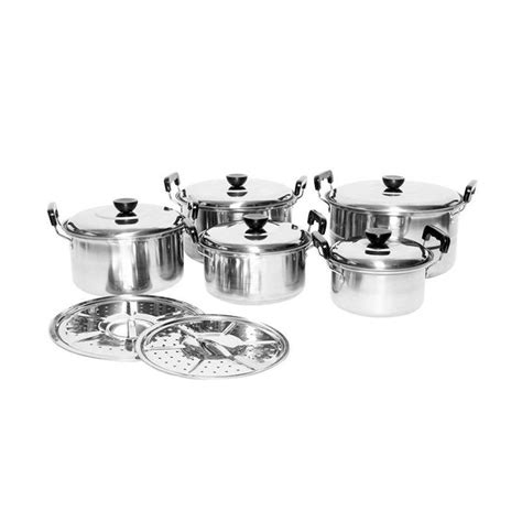 Panci Kingko Streamer Set 5 Pcs jual homelux panci set stainless with steamer 12 pcs