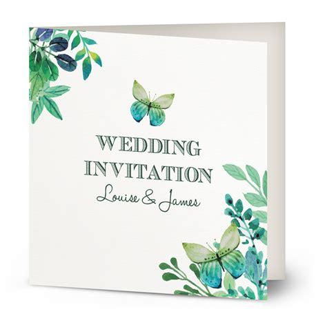 wedding engagement invitation watercolour butterfly wedding invitation beautiful wishes