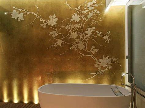 decorazioni pareti bagno decorazione pareti con foglia d oro foto 5 21 design mag