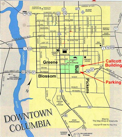 downtown columbia sc map local cola