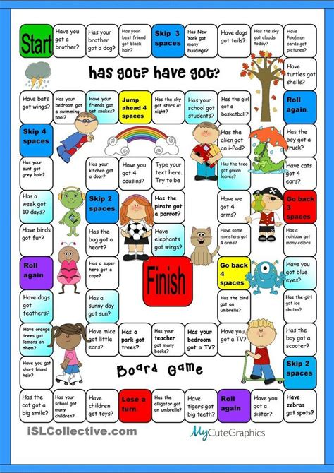 printable board games for young learners free printable games for learning english printable
