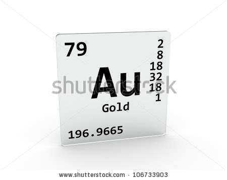Au On The Periodic Table by Argon Chemical Element Sign 3d Generated Stock Illustration 586238984