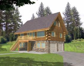 log cabin home floor plans with garage rustic cabin plans