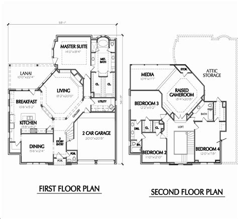 best 2 story house plans best of two story executive house plans house plan