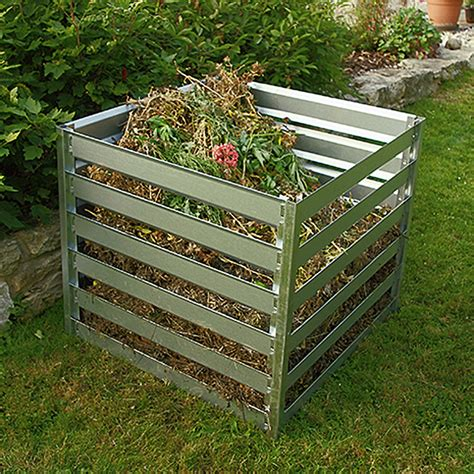 bauhaus komposter im garten gardol komposter 700 l 91 x 91 x 85 cm bauhaus