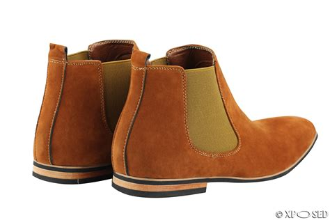 mens suede chelsea boots italian style smart casual desert
