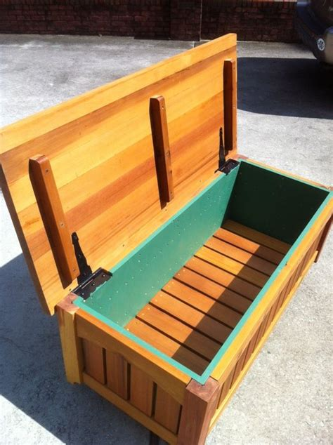 how to make a bench with storage outdoor wood storage bench treenovation
