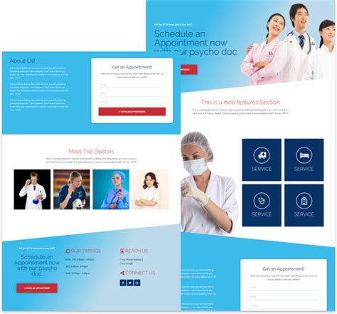 Free Landing Page Divi Layout For Medical Clinic Cakewp Divi Landing Page Template