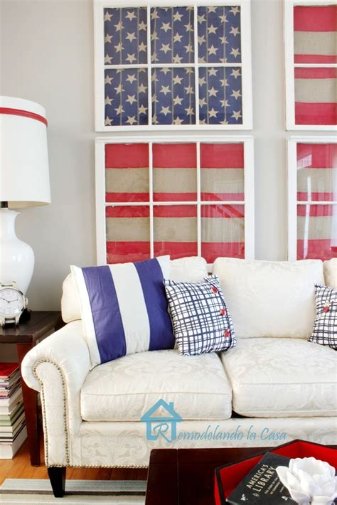 red blue room red white and blue living room 4th of july memorial